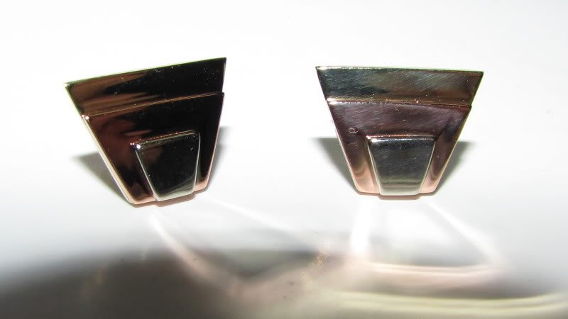 $500 RETRO 14KT YELLOW GOLD TRI-COLOR TRAPEZOID EARRINGS DISCO NEW