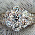 NATURAL DIAMONDS CLUSTER RING 4.56CT G COLOR VS2 18KT AAA INSPIRED DESIGN