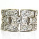 NATURAL 4.42CT DIAMOND ETERNITY 14KT BAND RING MODERN BRICK LINK DESIGN VS2 NEW