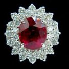 NATURAL 4.20CT TOURMALINE & 1.60ct DIAMONDS 14KT RING G-color Vs-2 clarity