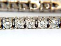 """NATURAL 3.36CT DIAMOND TENNIS BRACELET G VS2 14KT WHITE GOLD 7"""""""