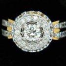NATURAL 2.59CT DIAMOND RING 14KT LADIES NEW GIA CERT LADIES NEW ROYAL DESIGN