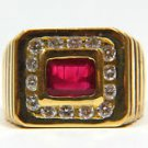 NATURAL 2.50CT RUBY DIAMOND MENS RING SIZE 7.75 G COLOR VS-2 NEW