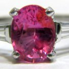 NATURAL 1.88CT PINK SAPPHIRE DIAMOND RING 14KT FREE SIZING