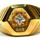 NATURAL 0.35CT DIAMOND MENS 14KT RING g color vs-1 CLARITY PRINCESS CUT