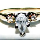 CLASSIC 3 STONE DIAMOND ENGAGEMENT RING 14KT