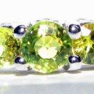 NATURAL YELLOW SAPPHIRE DIAMOND BAND RING 14KT