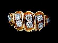 NATURAL 0.80CT DIAMOND 14KT BAND RING G VS2 LADIES NEW PETITE