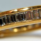 NATURAL 1.80CT VS2 DIAMOND BAGUETTE BAND RING 14KT