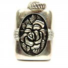 STERLING 925 SILVER FLOWER PENDANT GOTHIC DESIGN
