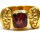 NATURAL 2.30CT TOURMALINE CUSHION 18KT LADIES RING SIGNED FREDERICA VINTAGE DECO