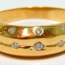 NATURAL 0.30CT  DIAMOND BAND RING VS2 18KT