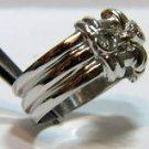 NATURAL 0.35CT MODERN DIAMOND BAND RING 14KT