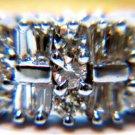 $2600 NATURAL 1.35CT DIAMOND BAND RING 14KT 2 TONE FREE SIZING