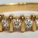 NATURAL 0.50CT DIAMOND BAND RING 14KT NEW LADIES
