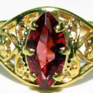NATURAL WINE COLOR MARQUISE RING VINTAGE DECO