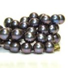 ENHANCED PURPLE PEARL NECKLACE 6MM 14KT CLASP