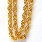 """14KT YELLOW GOLD NECKLACE ROPE TWIST DEIGN 30"""" BRAND NEW"""