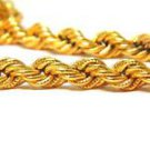 "14KT YELLOW GOLD NECKLACE ROPE TWIST DEIGN BYZANTINE DECO BRAND NEW UNISEX 18"""