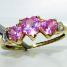 Natural 1.02ct Pink CUBIC ZIRCONIA RING 14KT