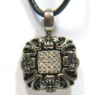ANTIQUE .925 STERLING SILVER PENDANT NECKLACE GOTHIC VINTAGE
