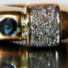 NATURAL 1.36CT SAPPHIRE DIAMOND RING 14KT 3D VINTAGE DECO REVIVAL