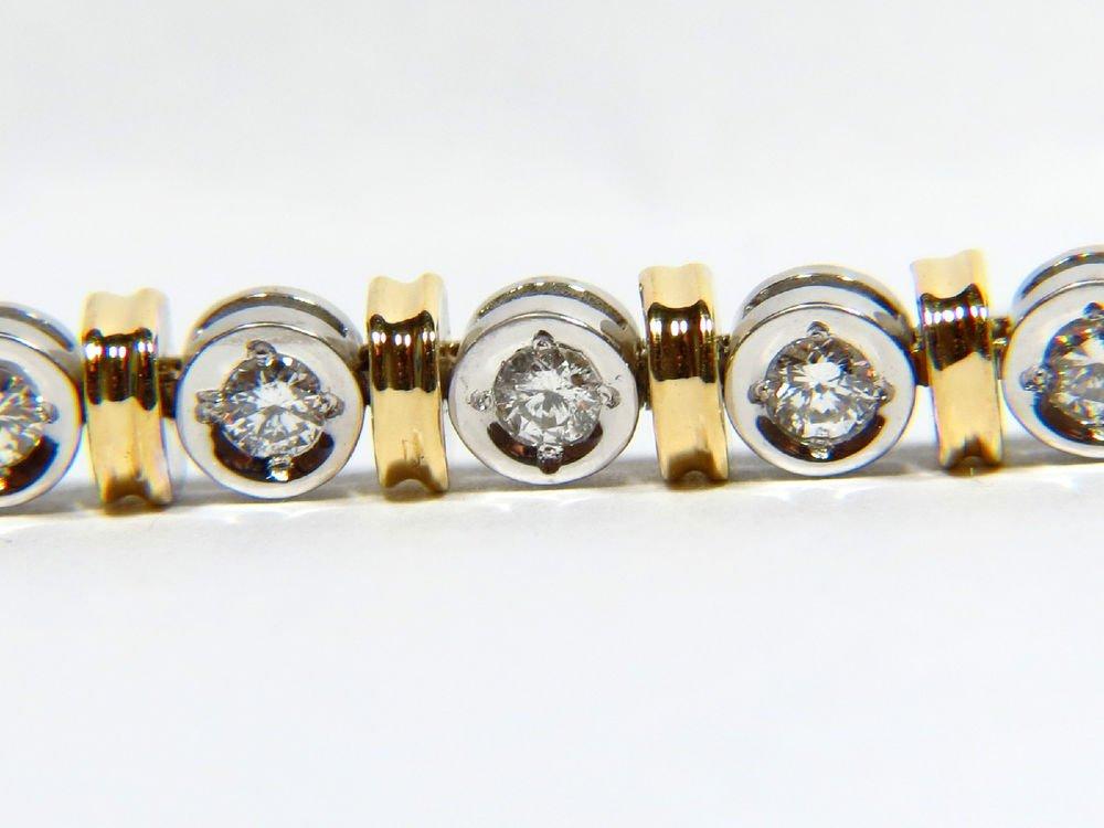 "NATURAL 1.75CT DIAMOND VS2 TENNIS ROUND LINK BRACELET 7"" 14KT"