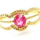VINTAGE DECO NATURAL RUBY RING 14KT