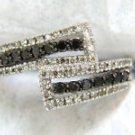 $2000 NATURAL 1.00CT BLACK & WHITE VS2 DIAMOND COCKTAIL RING 14KT