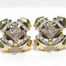 $3000 NATURAL 1.40CT DIAMOND STUDS WITH JACKETS 14KT A+ DETAIL PRINCESS