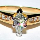 $2000 MARQUISE DIAMOND ENGAGEMENT RING FREE SHIPPING
