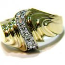 $2000 NATURAL .46CT DIAMOND VINTAGE ANTIQUE RING 14KT