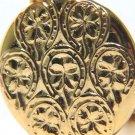 $1900 14KT YELLOW GOLD LOCKET PENDANT IRISH HORSESHOE CLOVER DESIGN