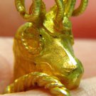 22K GOLD SOLID VINTAGE ANTIQUE RING OLD ARIES DESIGN HANDMADE CHARM 3D