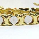 $2000 SOLID 14KT YELLOW GOLD SCREW DESIGN BRACELET 7.25 AAA