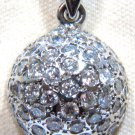 "$2600 STUNNING NATURAL 1.04CT DIAMOND CLUSTER PENDANT NECKLACE 16"" 14KT"