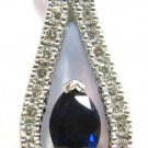 $1500 NATURAL 0.76CT SAPPHIRE DIAMOND  PENDANT NECKLACE 14KT G-VS2
