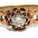 NATURAL 0.33CT DIAMOND RING ROSE GOLD 14KT H SI1
