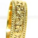 14KT ART CARVED RING HAND MADE 3.9 GRAMS NOT SCRAP NEW size 10 unisex
