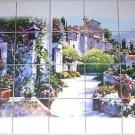 "European Village Ceramic Tile Mural 20pcs of 4.25"" Kiln Fired Decor"