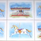 "Horse Carousel Merry Go Round Ceramic Tiles 6"" x 8"" Kiln Fired"