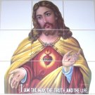 "Jesus Ceramic Tile Mural Back Splash Religious 9pc  6""x6"" Kiln Fired Decor"