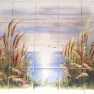 "The Morning Lake Ceramic Tile Mural 20 pc 4.25"" Kiln Fired Back Splash"