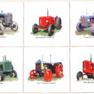 "Farm Tractor Ceramic Tile Accents 6 of 4.25"" Kiln Fired Vintage Machinery"