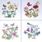 Butterfly Ceramic Tiles Dragonfly Bees Flower Kiln Fired Back Splash Decor