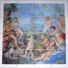 "Closeout Mythology Ceramic Tile Mural 16 pcs 4.25"" Kiln Fired #1 Beautiful 17"" x 17"""