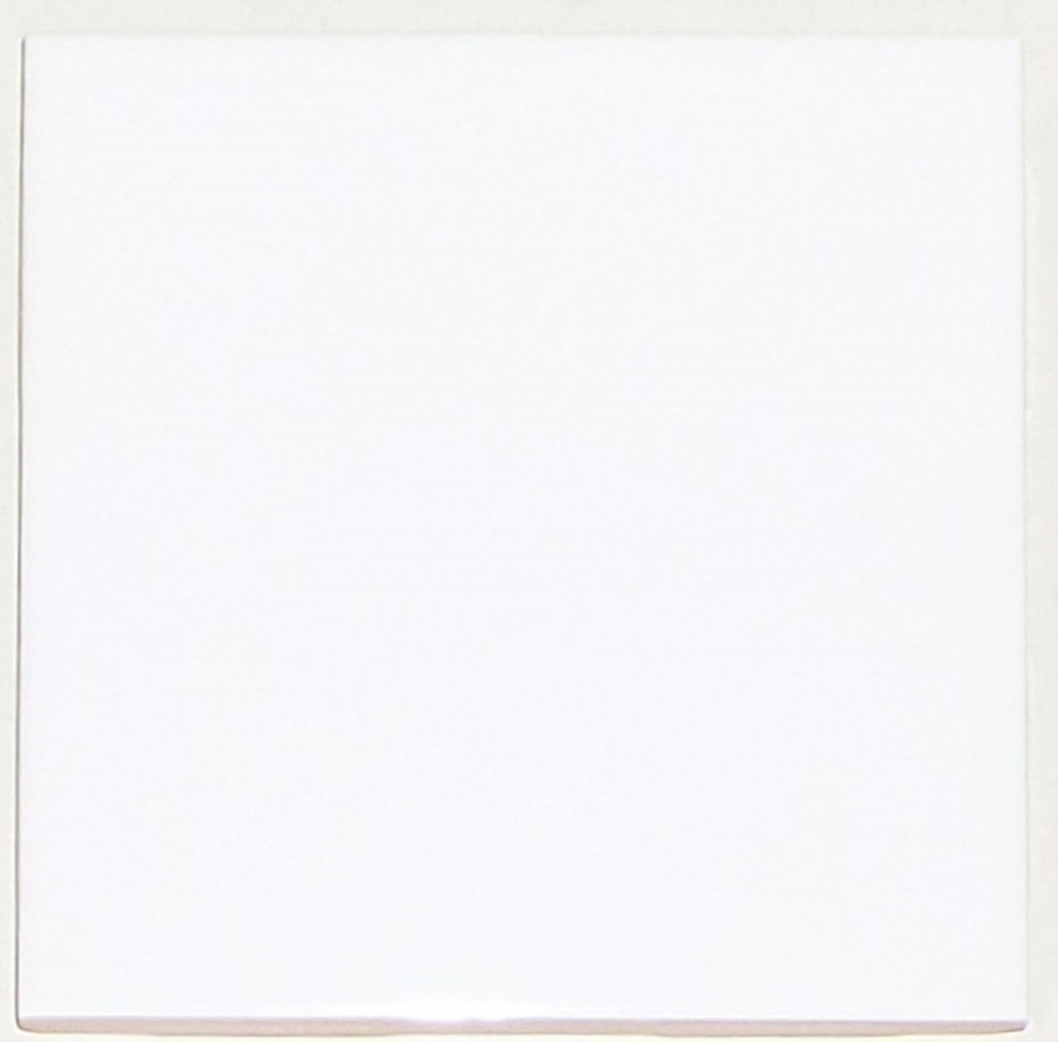 "Blank White Ceramic Wall Tile 4.25""x4.25"" Matches Mottles Kiln Fired US Ceramic"