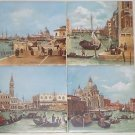 "Italy Venice Ceramic Tile Scenes Number 1 2 3 and 4  size 6"" x 6"" Decor"