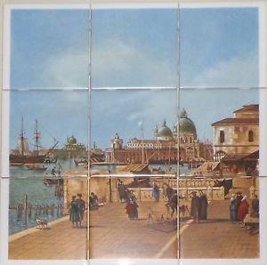 """Italy Venice  9pc 4.25"""" x 4.25"""" Ceramic Tile Mural Back Splash Decor #3"""