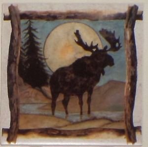 "Moose Beige Ceramic Tile Kiln Fired Back Splash Decor 6""x 6"" Brown"